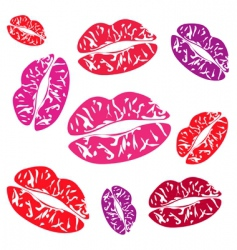 Imprint of the feminine lips vector
