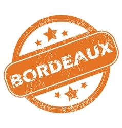 Bordeaux round stamp vector