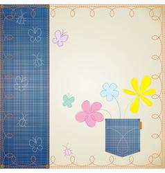 Blue jeans frame vector
