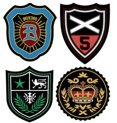 Fashion emblem badge vector