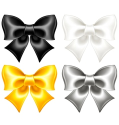 Festive bows black and gold vector
