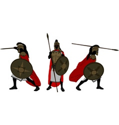 Ancient warriors vector