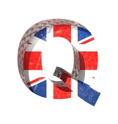 Great britain cutted figure q paste to any vector