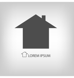 Grey house symbol vector