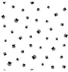 Animal footprints seamless background vector