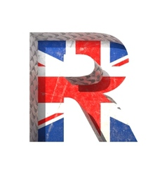 Great britain cutted figure r paste to any vector