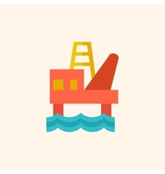 Fossil fuel flat icon vector