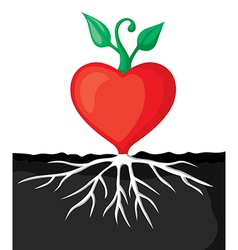 Heart sprout vector