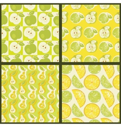 Seamless patterns with fruit vector