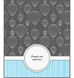 Template cards for gifts and postcards vector