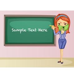 Teacher teaching lesson vector