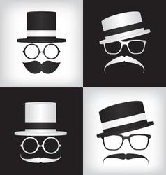 Hipster and gentleman vector