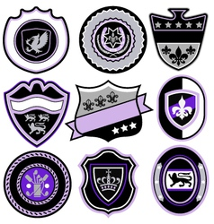Classic sport emblem badge set vector