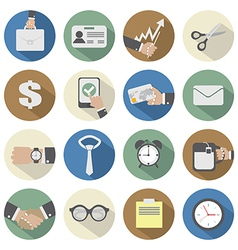 Flat design office icons vector