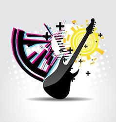 Abstract guitar art vector