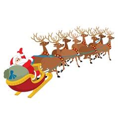 Santa on white vector