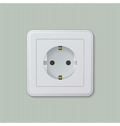 Euro electric socket 01 vector