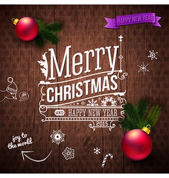 Typographic label for christmas and new year use vector