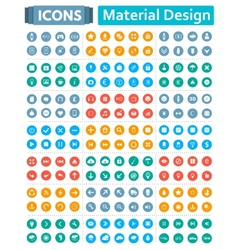 Universal set of icons in style of material design vector
