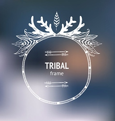 Hand drawn tribal frame vector