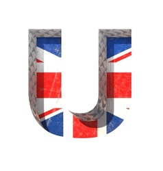 Great britain cutted figure u paste to any vector