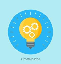 Flat design concept for creative idea for w vector