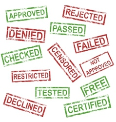Set of positive and negative stamps vector