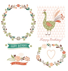 Holiday graphic elements collection vector