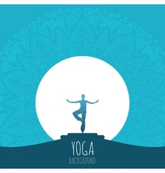 Yoga background vector