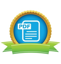 Gold pdf logo vector