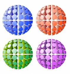 Futuristic spheres vector