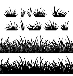 Grass silhouette seamless vector