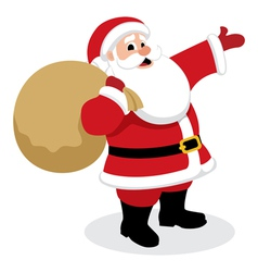Santa with presents vector