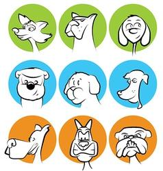 Dog characters set vector