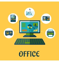 Business and office concept design vector