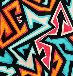 Graffiti seamless pattern with grunge effect vector