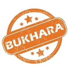 Bukhara rubber stamp vector