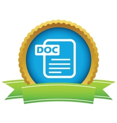 Gold doc logo vector