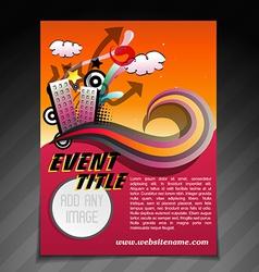 Event brochure flyer template vector