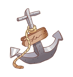 An anchor is placed vector