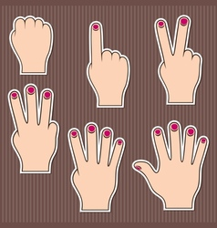 Fingers show numbers vector