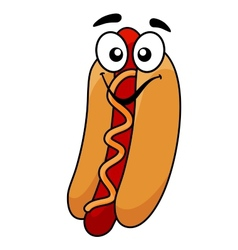 Fun hot dog and mustard vector