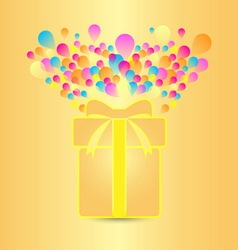 Beautiful card with present and colorful balloon vector