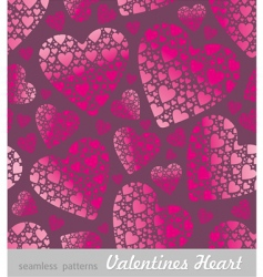Valentine's hearts background vector