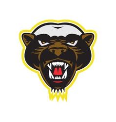 Honey badger mascot head vector