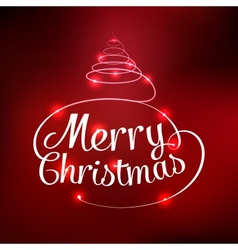 Glowing merry christmas typographic card vector