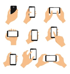Touch screen hand gestures vector