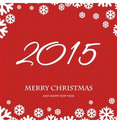 Merry christmas and happy new year 2015 vector