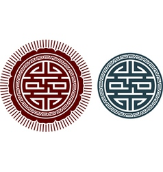 Oriental design element vector