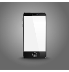 Dark modern smart phone with black screen isolated vector
